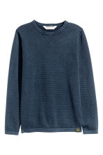 Fine-knit jumper - Dark blue - Kids | H&M 2